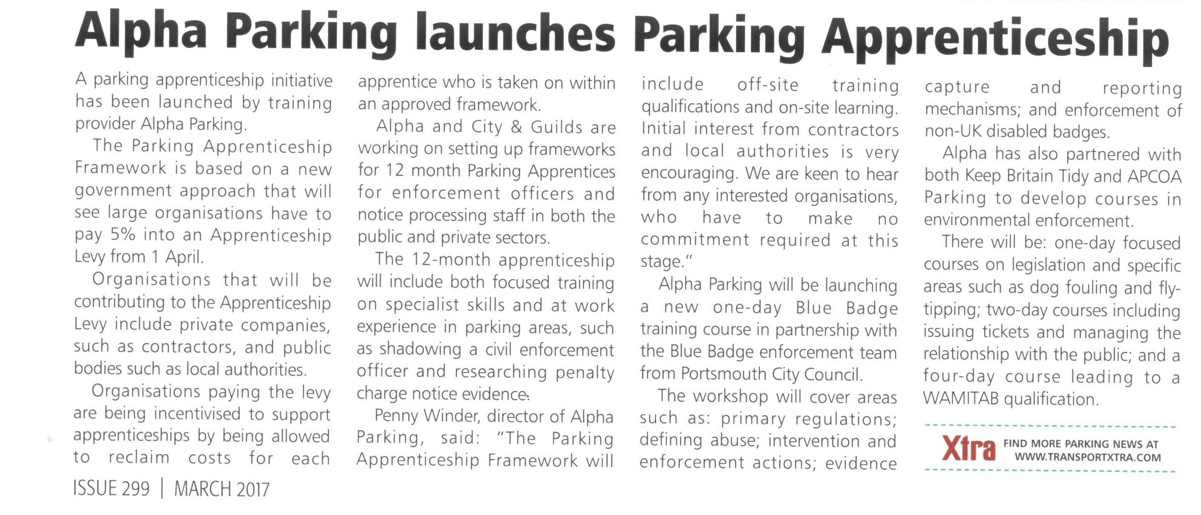 Alpha Parking Article